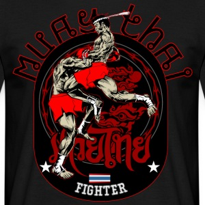 Muay Thai Fighter - T-shirt herr