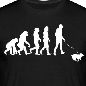 ++ ++ Hundeejere Evolution - Herre-T-shirt