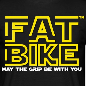FATBIKE - May the grip be with you - Männer T-Shirt