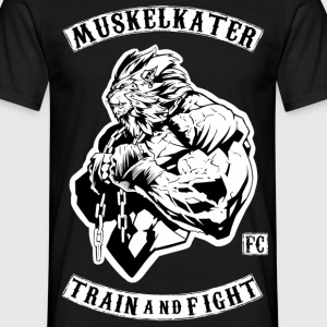 Muskelkater Fight Club - Train And Fight - Männer T-Shirt