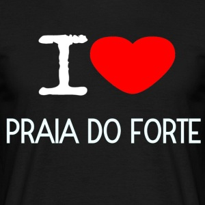 I LOVE Praia do Forte - Herre-T-shirt