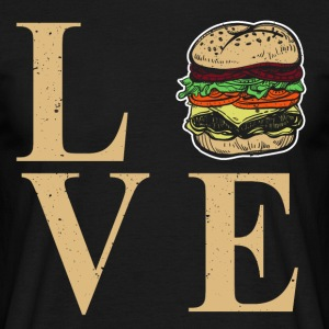 I love burgers - I Dear BBQ - Men's T-Shirt