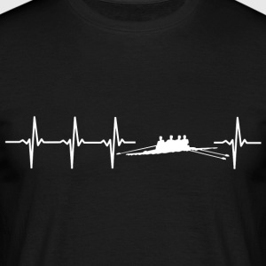 I love rowing (rower heartbeat) - Men's T-Shirt