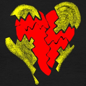 peeled heart (I saw) - Men's T-Shirt