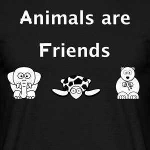 Animals are friends - Männer T-Shirt