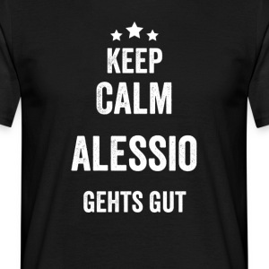 KeepCalmAlessio - T-skjorte for menn