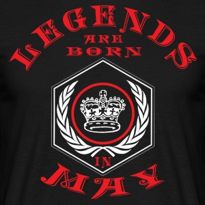 Legends may born birthday gift birth - Men's T-Shirt