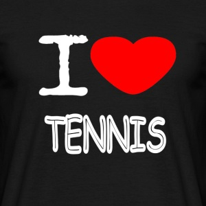 I LOVE TENNIS - Männer T-Shirt