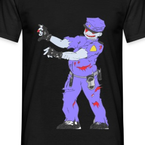 Collection Zombie: Police Zombie - T-shirt Homme