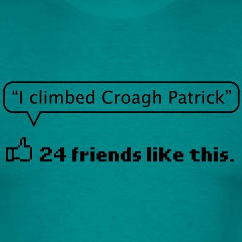 I climbed Croagh Patrick (Social Media) - Men's T-Shirt
