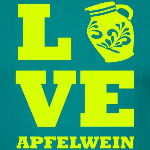 LOVE Frankfurt Apfelweim - Männer T-Shirt