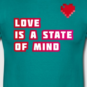 love love heart Statement pixels gay Game Nerd geek - Men's T-Shirt