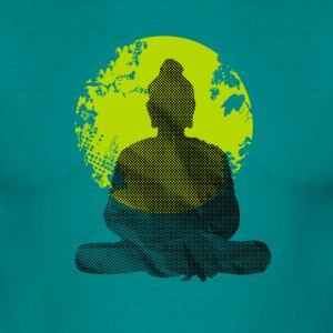 Buddha Meditation India Yoga namaste world green wa - Men's T-Shirt