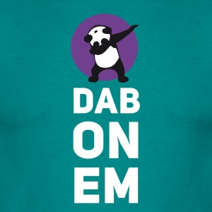 dab on Em panda dabbing Dance Football touchdown - Men's T-Shirt