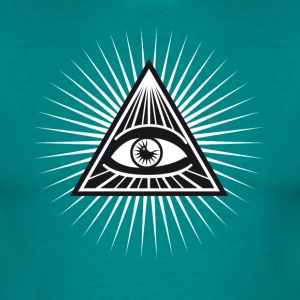 illuminati ojo que ve divertido lit fresco - Camiseta hombre