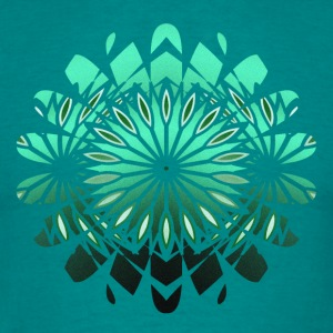 abstract green flower - Men's T-Shirt