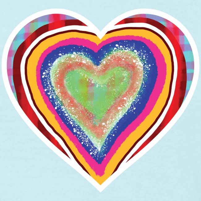 A heart in hearts is pure love on many levels