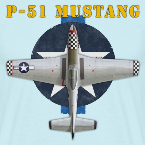 P 51 shirt design - Men's T-Shirt