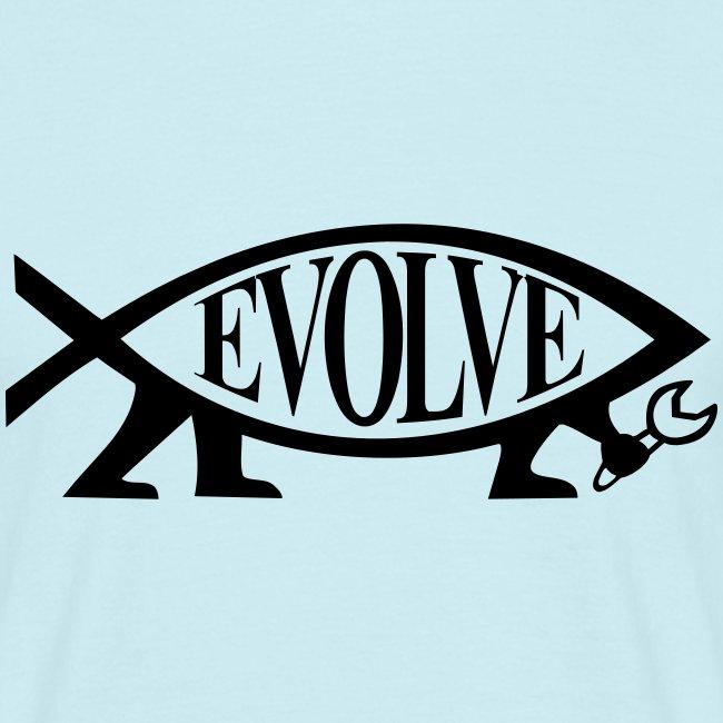 Navy Atheisten Darwin Fish Männer Langarm
