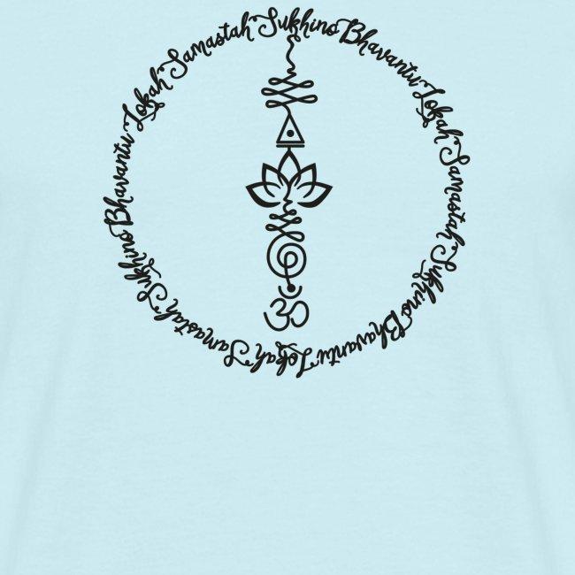 Yoga Mantra Lokah Sukhino Bhavantu Design Tshirt