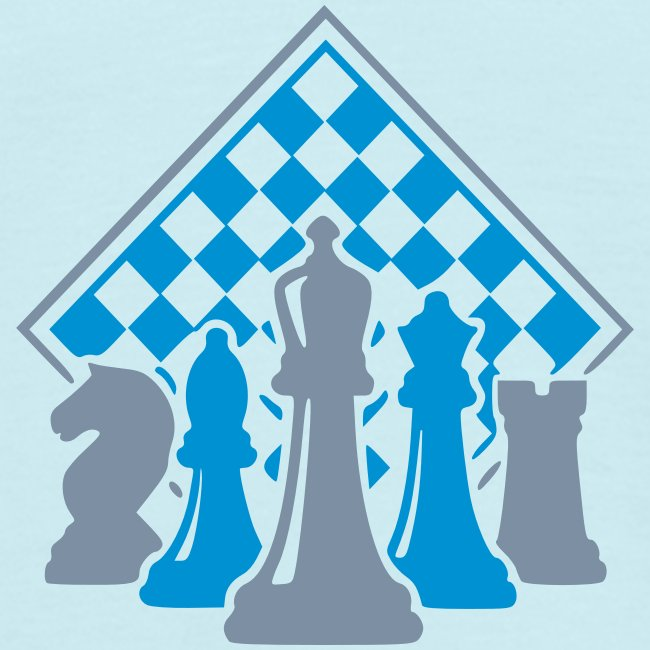 Schachfiguren vor Brett
