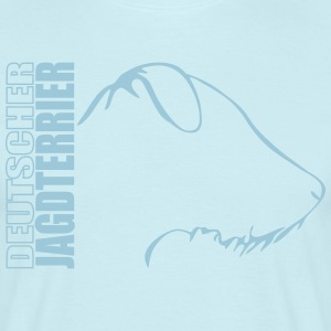 DUITSE JACHT TERRIER wire haired PROFIEL - Mannen T-shirt