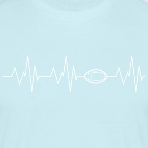 Heartbeat Football - Men's T-Shirt