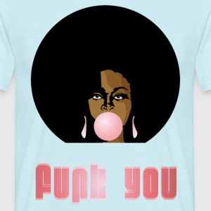 Funk You 70's Retro Bubblegum Afro Queen - Maglietta da uomo
