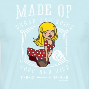 Pin-Up Girl - Vegan Sugar and Spice, Tofu and Rice - Mannen T-shirt