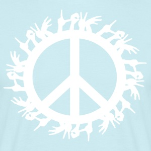 ++ ++ Love & Peace - T-shirt herr