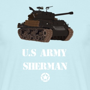 Sherman Tank WW2 - T-skjorte for menn
