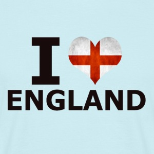 I LOVE ENGLAND FLAG - T-skjorte for menn