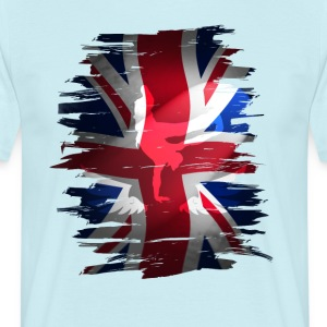 Union Jack flag britain Stunt England destroyed ro - Men's T-Shirt