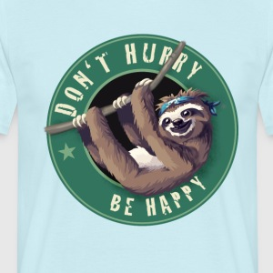 Sloth Starbucks Button lat moro Humor LOL kulden - T-skjorte for menn