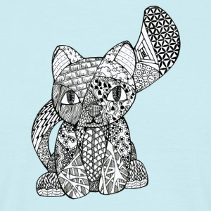 Zentangle-Kitten - Mannen T-shirt