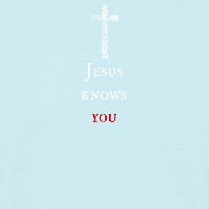 Jesus kennt dich Jesus knows you - Männer T-Shirt