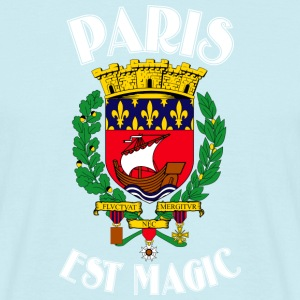 Paris Er Magic Blue - Herre-T-shirt