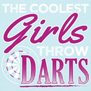 De coolste GIRLS darts gooien - Mannen T-shirt