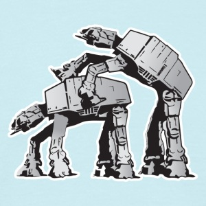 AT-AT robot kön STAR WARS - T-shirt herr