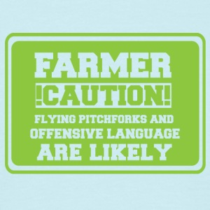 Farmer / Landwirt / Bauer: Farmer! Caution! Flying - Männer T-Shirt