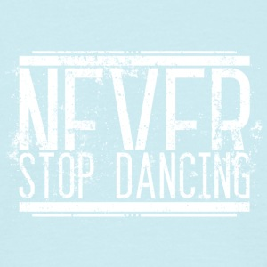 Never Stop danse Old White 001 modèles ronds - T-shirt Homme