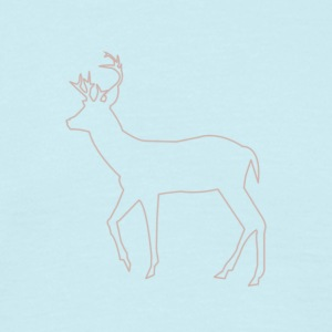 Silhouette of deer - Men's T-Shirt