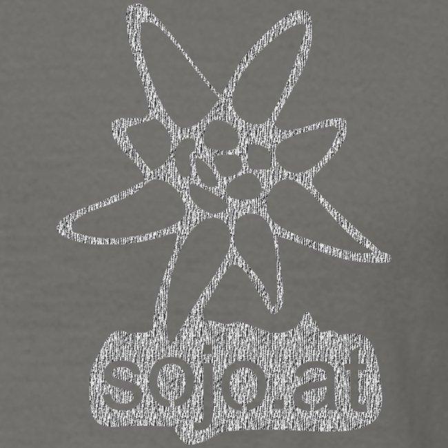 sojo.at Logo (Edelweiß und Sagzahn mit Schriftzug)