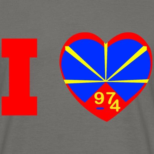 I love 974 - Lo Mahaveli - T-shirt Homme