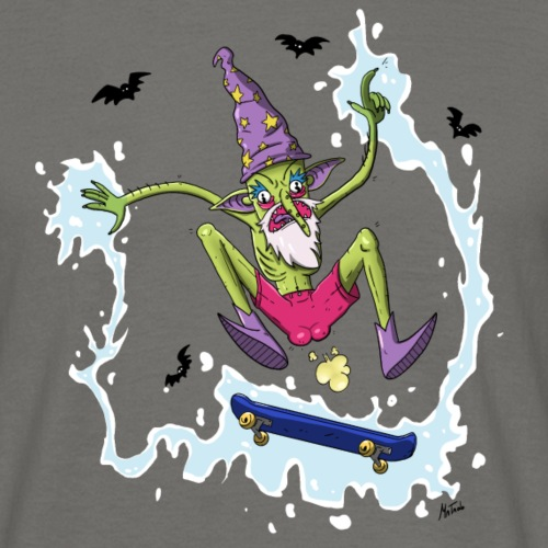 Wizard Skating poop - T-shirt Homme