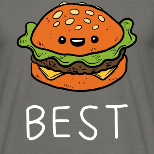Beste Friends Burger und Pommes Partnerlook - Männer T-Shirt