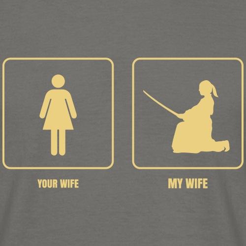 my wife aikido monocolor - Camiseta hombre