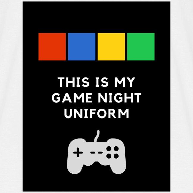 Game night uniform
