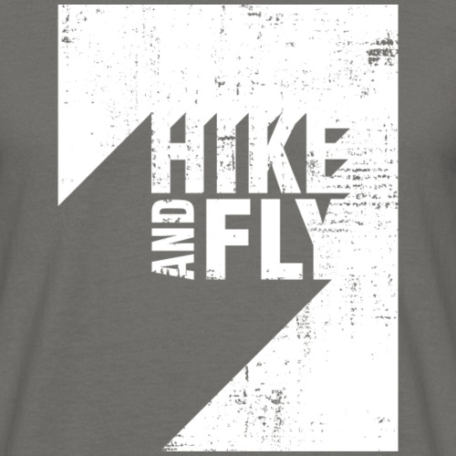 Hike and Fly Paragliding 3D Text - Männer T-Shirt