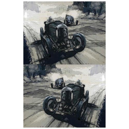 auto retrò 18 auto auto corsa retrò in stile vintage - Maglietta da uomo